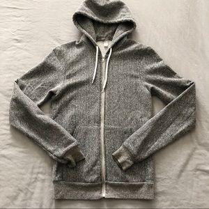American Apparel | salt & peppered zip hoodie